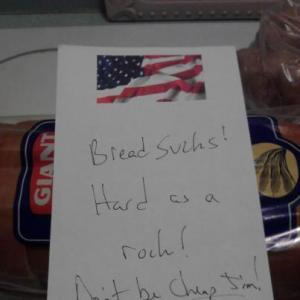 note on bread